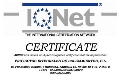 Renovación del Certificado ISO 9001:2015, tras la auditoría realizada por la Entidad Certificadora AENOR.