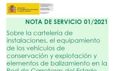 Nueva Nota de servicio 01/2021 del MITMA